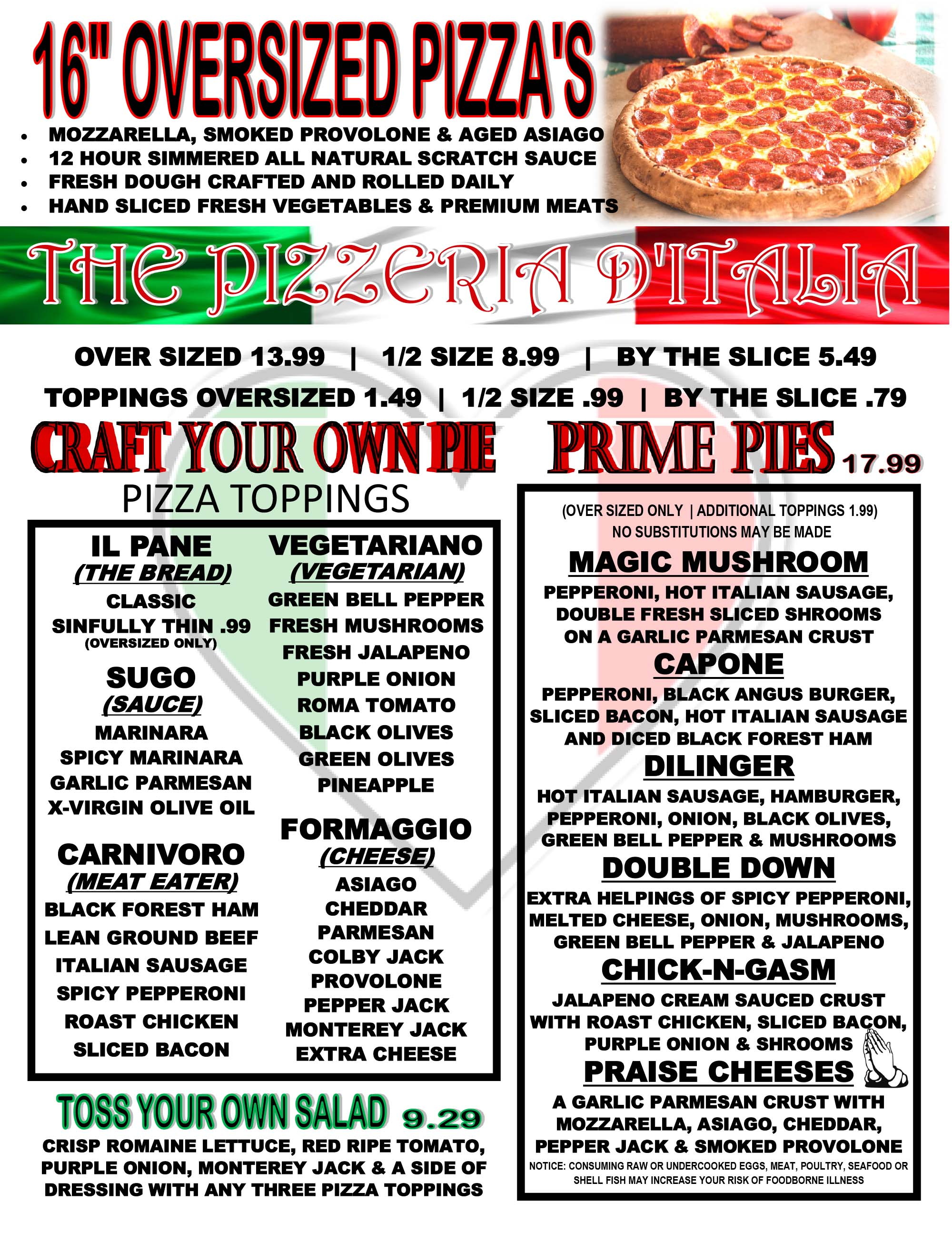 South Tyler Speakeasy Menu
